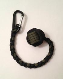 "Defensa de metal online-Envío gratis Monkey Fist keychain 1 ""Steel Ball Self Defense, 550 paracord keychain Handcrafted in China!"