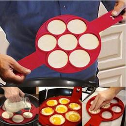 Wholesale Perfect Stockings - Flippin Fantastic Fast Easy Way to Make Perfect Pancakes Nonstick Pancake Maker Egg Ring Maker Kitchen Baking Moulds CCA5717 100pcs