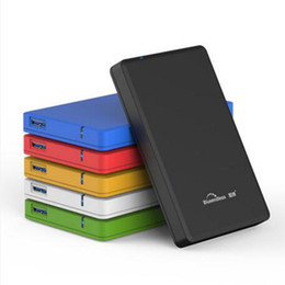 Wholesale Hard Plastic Carrying Cases - Wholesale- 2pcs lot 2 5 inch hdd USB 3.0 enclosure tool free ssd sata III hdd cases 6gbps protect box plastic carry cases for 1tb hard disk