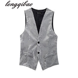 2021 верховая езда Wholesale- Horse riding jazz dance costume photography chorus men and women sequins vest(8 colors optional)