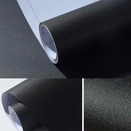 Wholesale Black Contact Adhesive - Wholesale Black Matte Self Adhesive Vinyl Wallpaper Contact Paper Peel Sticker