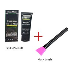 Wholesale Silicone Blackhead Remover - New shills mask peel off Blackhead remover and Silicone Cleansing Brush Kit Cheapest Shills Come With Silicone Mask brush