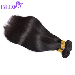 Wholesale Wholesale Weaves Extensions Malaysia - Brazilian Straight Human Hair Weaves Weft Cheap Hair Extensions Malaysia Peruvian Indian Double Weft 95-100g Human Hair