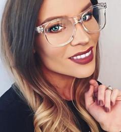 Wholesale Eyeglass Frames Crystal - Transparent Crystal Clear Frame square Lens eye glasses acetate spectacles frame clear glasses lens Women's eyeglasses retro glasses frame