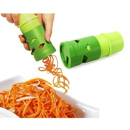 Wholesale green cutter vegetable - Green Carrot Peeler Multifunction Vegetable Fruit Cutter Cucumber Turning Slicer Cutter
