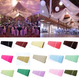 "Wholesale favor bows - Bolt Tulle 54 ""X40 yards Tutu Fabric Nylon Pew Bow Bridal Favor Party Wedding Decorations 10 color"