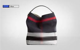 Wholesale Two Tone Handbags - New Hot Sale Fashion Women Canvas Bag Female Casual Crossbody Handbags Ladies Canvas Plaid Handbag Shoulder Messenger Bag