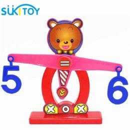 Wholesale Brains Balance - Wholesale- SUKIToy Children gift Learning & Education toys Brain balance w weight&digital Plastic Math toys Educational games SK024