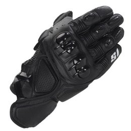 Wholesale Motorcycle Race Leather - Wholesale- Free Shipping Motorcycle Leather Gloves GP S1 Motocross Moto Road Racing glove Motorbike Outdoor riding Protection Guantes
