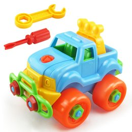 Wholesale Wholesale Nut Drivers - Wholesale-Disassembly Assembly Car Classic Toy With Screw Driver Nut Toy Car Montessori Early Educational Puzzle Toys For Children Kids