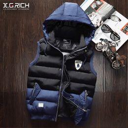 Wholesale Small Waistcoat - Wholesale- Male autumn and winter cotton vest waistcoat outerwear casual vest winter small vest men's clothing