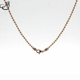 Wholesale Selling Stainless Steel Necklace Chain - 10pcs lot Hot selling 30 inches stainless steel ball floating locket chains necklace Rose Gold living glass memory lockets chains SN006