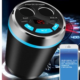Wholesale Mp3 Car Player Cigarette Lighter - Car Bluetooth Handsfree Kit FM Transmitter Cigarette Lighter Radio MP3 Player TF AUX W 3-Port USB Charger
