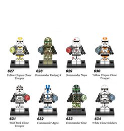 Wholesale Hero Build - Building Blocks Minifigures Action Bricks Super Heroes Space War Clone Trooper Neyo Gree Appo Kids Christmas Gift DIY Toys 8pcs set X0162
