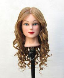 Wholesale Hair Styling Mannequins - Mannequin Head Maniqui Human Hair Dummy Training Head Cosmetology Mannequin Heads Manikin Head Hair Styling Mannequins