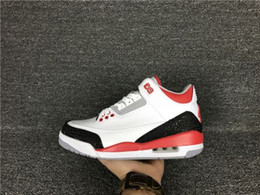 Wholesale Uk Women White Men - Air Retro 3 Basketball Shoes 3s black cement cemend 88 cyber monday fire red okc pur uk true blue wool Sneakers