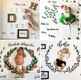 Wholesale White Photo Cloth - 2017 newborn photography background props baby photo prop fabric backdrops easter infant blankets wrap letter soft blanket ins cloth mat kid