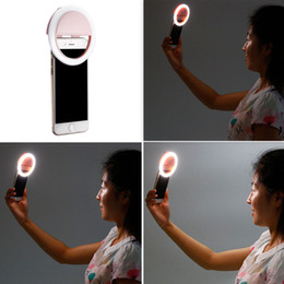 Wholesale photography led light new - NEW RK-12 selfie light USB rechargeable selfie ring light LED selfie ring camera enhancing photography for smartphone iPhone Samsung