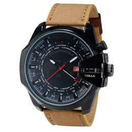 Wholesale Good Mens Watches - Top Luxury Brand Mens Watch Sports Quartz wristwatch Fashion Casual Watches Clock Male good gift for men & boy With Date World Map Wholesale