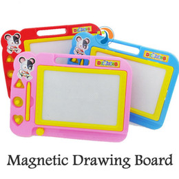 Wholesale Magnetic Writing Board Toy - Wholesale- Baby Child Writing Board Plastic Magnetic Drawing Board Sketch Sketcher Doodle Writing Painting Craft Art Plastic Paint Pad HH03