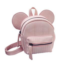 Wholesale Small Ears Cartoons - Wholesale- Mickey ear backpack for teenage girls small mouse girl back pack cute mini korea bagpack cartoon design backpacks
