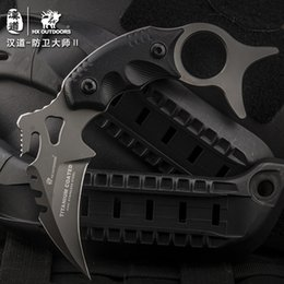 Wholesale Field Knives - HX OUTDOORS Defense master Karambit knife, survival knife, field straight knife, outdoor body with a knife