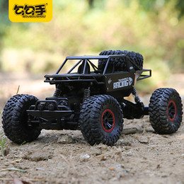 Wholesale Rc Electric Buggy - GouGouShou 1:18 4WD RC Car 2.4GHz Metal Rock Crawlers Rally Climbing Off-Road big Vehicle Remote Control Model Toys For Children
