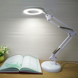 Wholesale Eye Lamp - Led long arm folding lamp with magnifying glass function reading light third gear dimming student eye protection LED Table lamp lighting