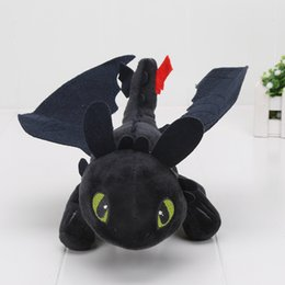 Wholesale Dragon Toothless Plush - In Stock 9'' 23cm How To Train Your Dragon Mini Plush Toothless Night Fury Toy Stuffed Animals Toys Christmas Gift