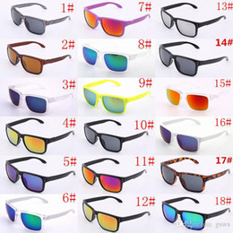 Wholesale Glasses Mix Color - 9102 10pcs holbrook SunGlasses For Men Summer Shade UV400 Protection Sport Sunglasses Men Sun glasses 18Colors Hot Selling 10pcs