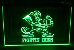 Wholesale Irish Neon Bar Signs - fightin irish Sale beer bar pub LED Neon Light Sign home decor crafts