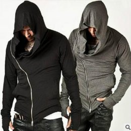 assassin s creed hoodie Coupons - Wholesale- Fashion Assassins Creed Hooded Men Hoodies Male Causal hoodies Outerwear Tracksuit Sweatshirt Size M-XXL