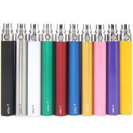 Wholesale Ego Ce3 - eGo-t Battery eGo 650mah 900mah 1100mah Batteries Electronic Cigarettes 510 Thread for CE3 CE4 Atomizer MT3 Protank H2 Vaporizer