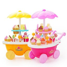 Wholesale Trolley Car Toys - Baby simulation trolley girl mini candy car ice cream shop supermarket Pretend Play and Dress-up free shipping