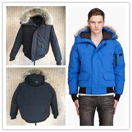 Wholesale Thin Down Jacket Hooded - 2016 New Men's Goose down jacket Coat Fur Goose Men Chilliwack Parka fur jacket and the size of the coat cotton male hooded casual