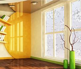 Diseños de etiqueta de la puerta de cristal online-Moderno Pvc flor electrostática flor helada diseño opaco Home Store restaurante vidrio puerta ventana película protectora decorativa pegatinas