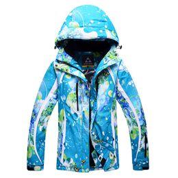 Wholesale Women Snowboard Jacket New - Wholesale- Promotion!! 2016 New Women Ski Jacket Winter Warm Snowboard Climbing Skiing Jackets Super Windproof Breathable Coats Female