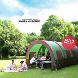 Wholesale Camping Gazebo Tent - Camping Tent Sun Shelter Gazebo Party Tunnel Tent One Room Two Hall 6-10 Person Large Family 2527039