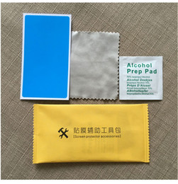 Wholesale Phone Films - Foil tool package dust paste alcohol package three sets of mobile phone steel film auxiliary tool factory direct