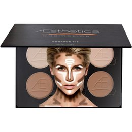 Wholesale Good Quality Makeup Palettes - 6 Colors Contour Kit Powder and Contour Cream Palette Bronzer Highlighter Concealer with good quality free with makeup brush