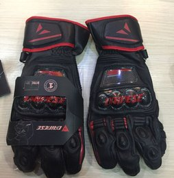 Wholesale Metal Motorcycle Gloves - High quality Motorcycle metal leather gloves Racing gloves Cycling gloves Free shipping