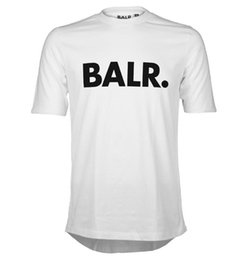Wholesale Shirts Short Backs - High-quality 2016 NEW fashion summer style balr t shirt men&women short sleeve NL luxury brand clothin round bottom long back t-shirt