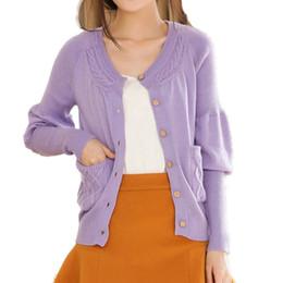 Wholesale Korea Fashion Style Coat Woman - Wholesale- 2017 Korea Style New Fashion Women Single Breasted V Neck Short Cashmere Cardigan Sweater for Female Outerwear Coat