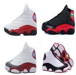 Wholesale Slip Basketball Shoes - High quality retro 13 basketball shoes sneakers XIII mens basketball shoes cheap sneakers black red Outdoor sports shoes