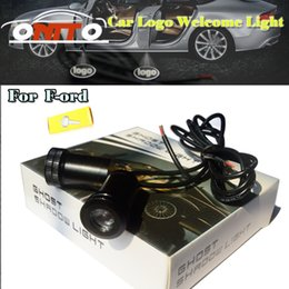 Wholesale Ford Fusion Auto - 4th Car logo Light Emblem Laser Door Bulb Auto Ghost Shadow Lamp For kuga fusion fiesta transit mustang ranger