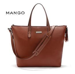 Wholesale-New 2016 Mode Espagne Mangoo Grand sac de shopping Femme Totes Sac à bandoulière femme Messenger Messenger Sac à main en cuir ? partir de fabricateur