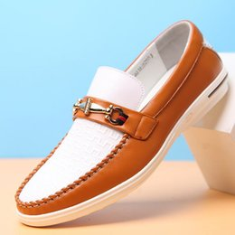 Wholesale Causal Slip Loafers Men - Summer Causal Shoes Men Loafers Genuine Leather Moccasins Men Driving Shoes High Quality Flats For Man size 38-44