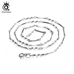 Wholesale 925 Silver Necklace For Sale - ORSA JEWELS Hot Sale 925 Sterling Silver 45cm Link Chains Necklaces Fit For Pendant Charm For Women Luxury 925 Jewelry Gift SC05