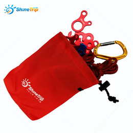 Wholesale Bag Stopper - 16*14cm Storage Bag Outdoor Camp Hiking Wind Rope Buckle Bag Tent Wind Stopper Rope Wigwam Buckle Hanging Bag 032