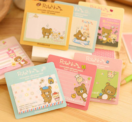 Wholesale sticky note book - Wholesale- 1Pcs New Cute Easily Bear Sticky Notes Creative Cartoon Design Messages Posted Multifunction Book H0278
